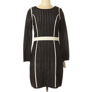 NWT CALVIN KLEIN Eyelet Long Sleeve Sweater Dress